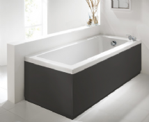 Luxury Anthracite 2 Peice Adjustable Bath Panel Set
